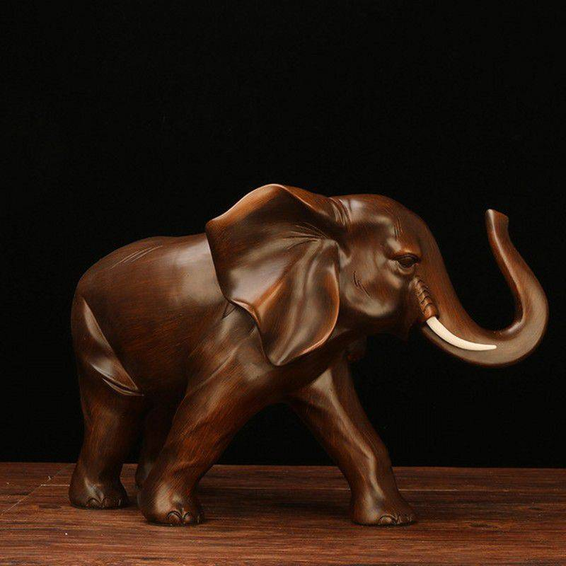 Small Resin Elephant Figurine For Good Luck – Statue Decor For The Home