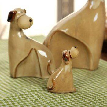 Brown Ceramic Dog Statue For Table Decor - Art Statues For Home 1