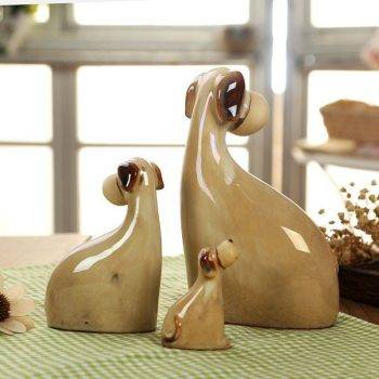 Brown Ceramic Dog Statue For Table Decor - Art Statues For Home 2