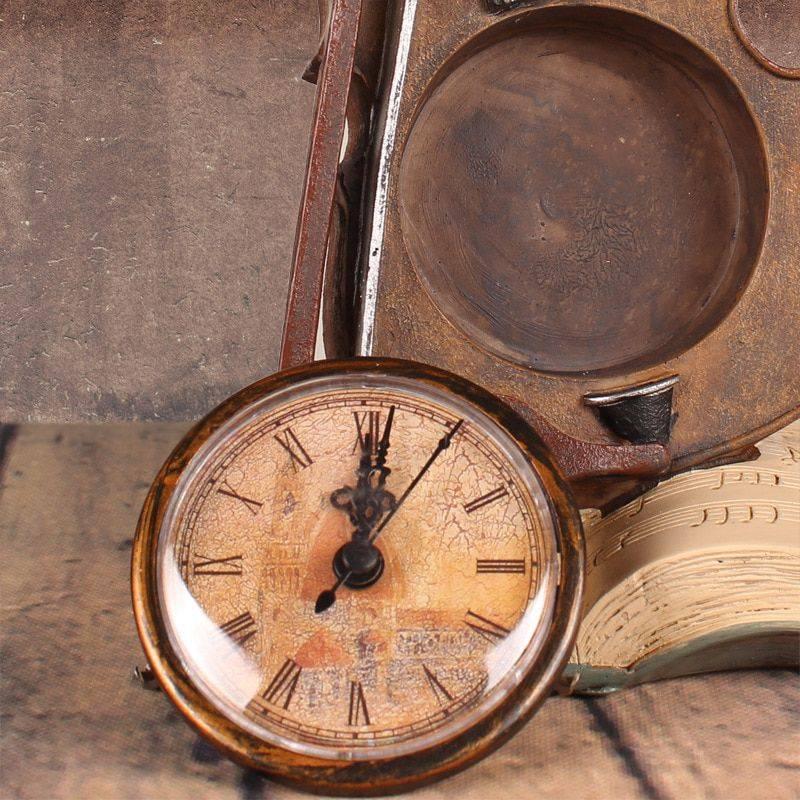 Decorative Clock For Office Decor – Resin – Violin Statuette, Art Deco Statue
