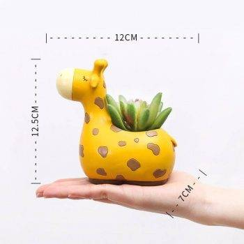 Resin Animal Succulent Plant Pot For Office Desk Decor - House Plants Pots 4