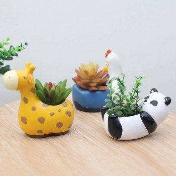 Resin Animal Succulent Plant Pot For Office Desk Decor - House Plants Pots 2