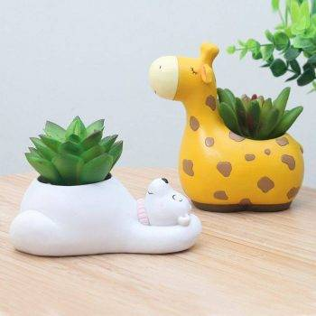 Resin Animal Succulent Plant Pot For Office Desk Decor - House Plants Pots 3