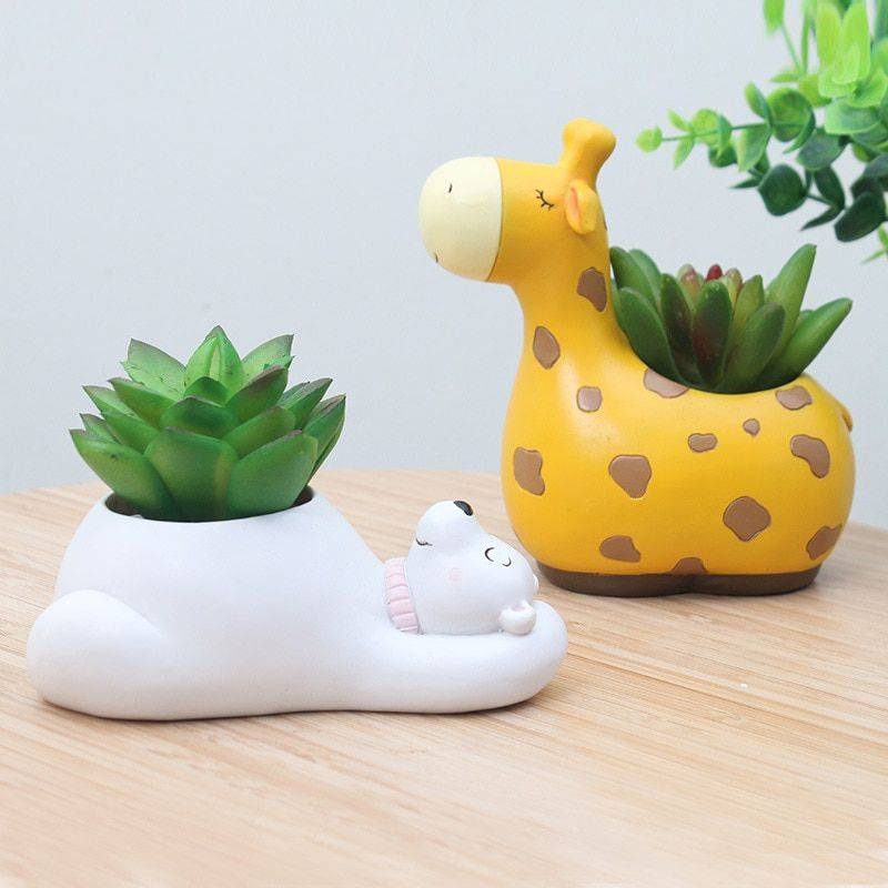 Resin Animal Succulent Plant Pot For Office Desk Decor – House Plants Pots