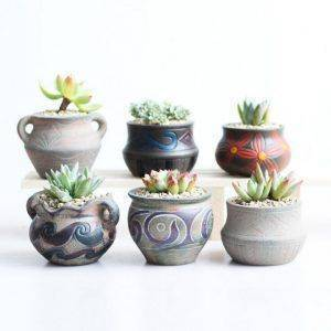 Creative Ceramic Hand Painted Plant Pots – Small Flower Pot