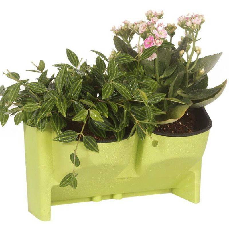 White/Red/Green/Yellow Resin Stackable Plant Pots For Outdoor – Hanging Flower Pot