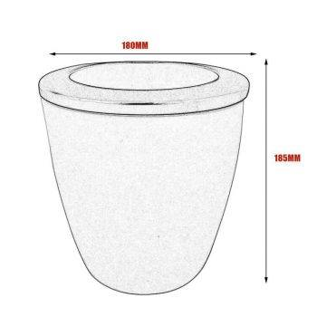White Plastic Automatic Watering Plant Pots - Put In Floor Irrigation Gardening Flower Pots 3
