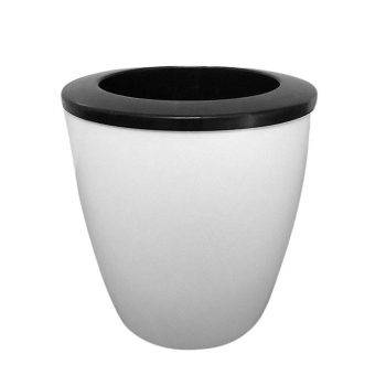 White Plastic Automatic Watering Plant Pots - Put In Floor Irrigation Gardening Flower Pots 2