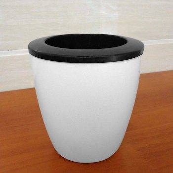 White Plastic Automatic Watering Plant Pots - Put In Floor Irrigation Gardening Flower Pots 5
