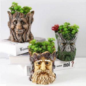 Cute Resin Animal/Groot Plant Pots – Head Shaped Flower Pots