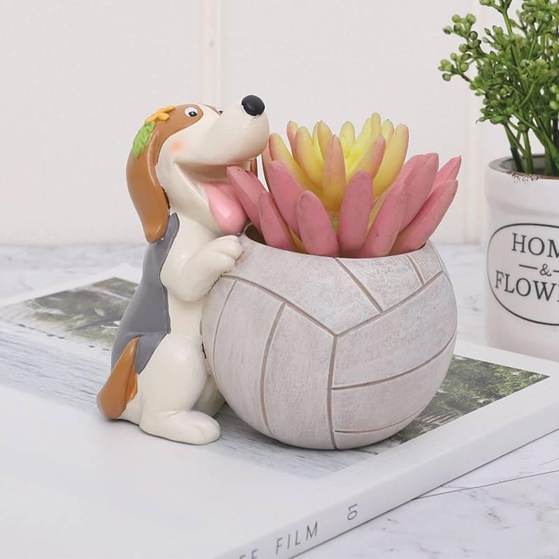 Resin Sport Flower Pots For Succulent Plants – Lovely Planter
