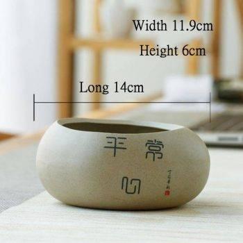 Chinese Style Ceramic Succulent Pots Planter - Mini Flower Pot For Home Decor 3