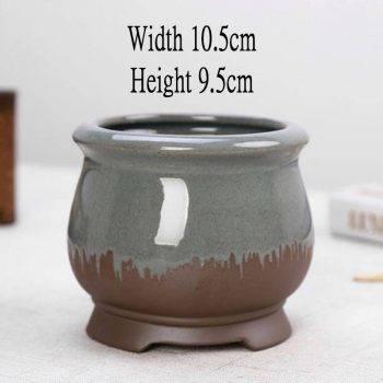 Chinese Style Ceramic Succulent Pots Planter - Mini Flower Pot For Home Decor 4