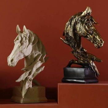 Arabian Horse Head Statue For Home Office Decor - Resin, Friesian/Quarter/Mustang/Morgan Horse Statuette, Art Deco Statue 4