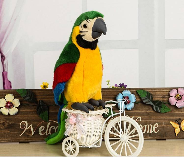10″ Green Parrots Plush Toys Kawaii Simulation Parrot Stuffed Doll Soft Toys For Kid Gifts Free Shipping