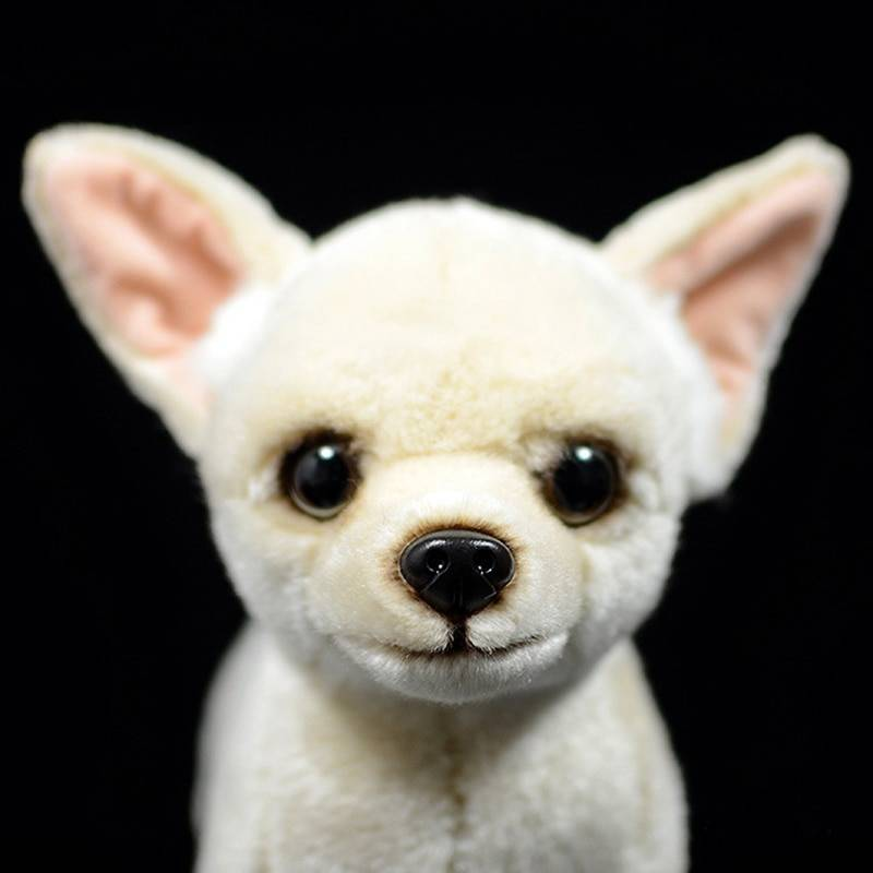 25cm Lifelike Chihuahua Dog Plush Toys Cute Dog Puppy Stuffed Animal Dolls Soft Real Life Chihuahua Toys For Kids Gifts