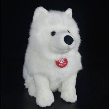 Samoyed Stuffed Toys - White Dog Plush Toy Puppy Plush Animals Toy 2