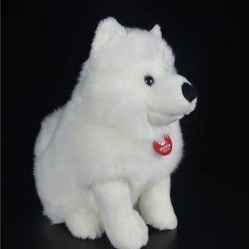 Samoyed Stuffed Toys - White Dog Plush Toy Puppy Plush Animals Toy 3