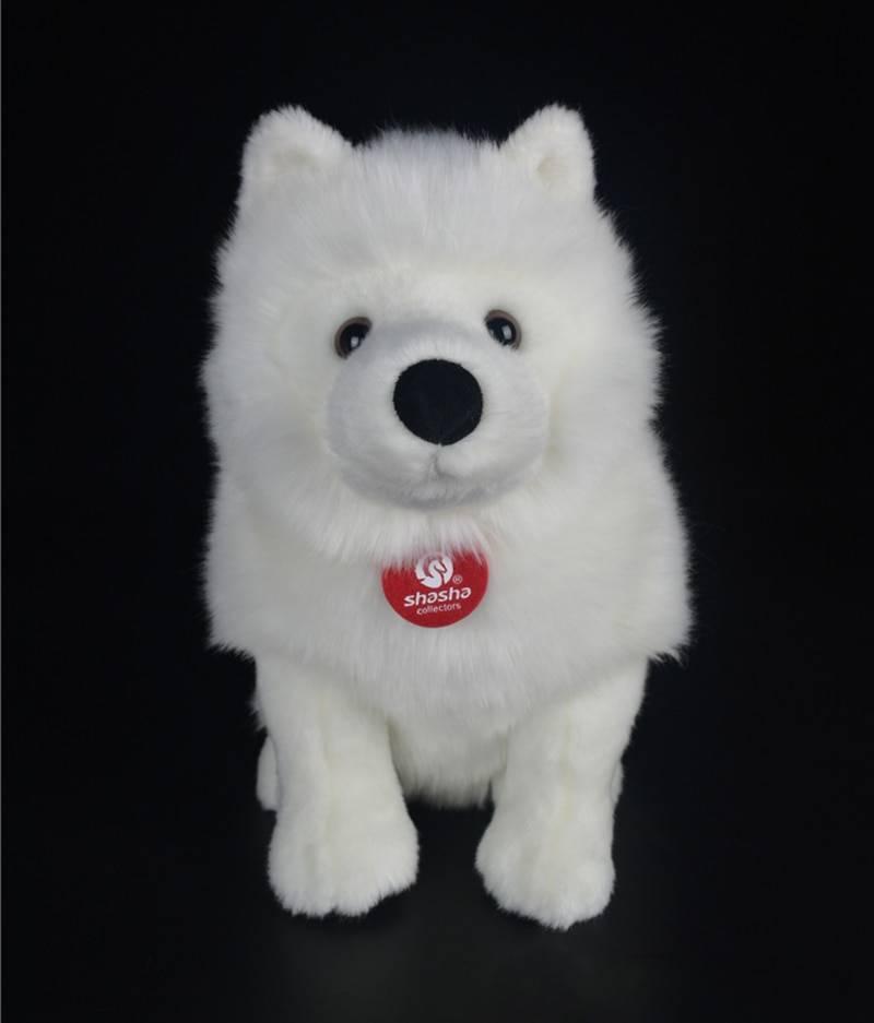 28cm Lifelike Samoyed Stuffed Toys Cute Simulation White Dog Plush Toy Puppy Plush Animals Toy Birthday Christmas Gifts