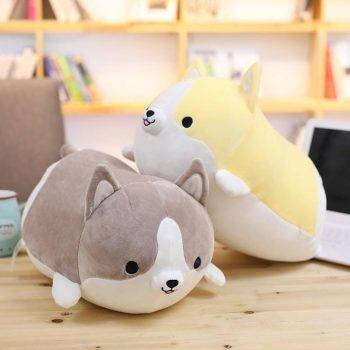 Welsh Corgi Dog Plush Toy - Pillow Dog Puppy Stuffed Animals For Kids, Birthday Gift 1