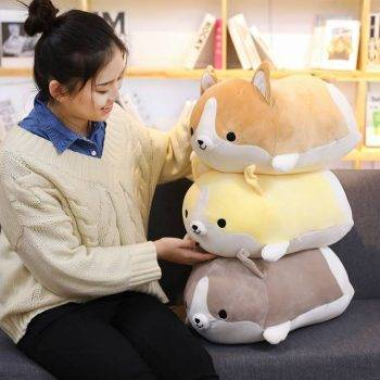 Welsh Corgi Dog Plush Toy - Pillow Dog Puppy Stuffed Animals For Kids, Birthday Gift 2