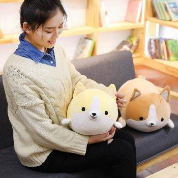 Welsh Corgi Dog Plush Toy - Pillow Dog Puppy Stuffed Animals For Kids, Birthday Gift 4