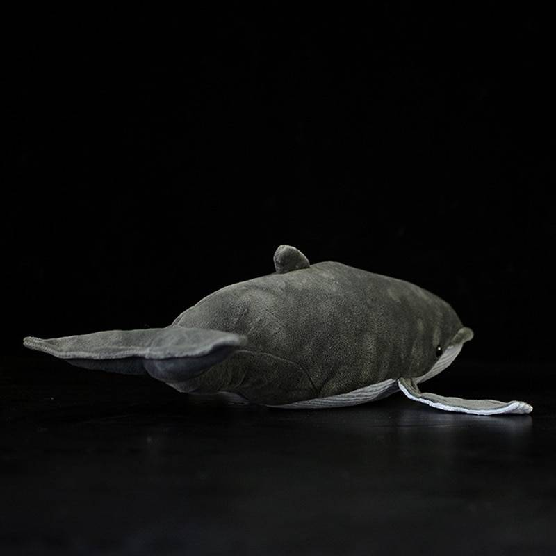 40CM Length Lifelike Blue Whale Stuffed Toy Extra Soft Humpback Whale Plush Toys Simulation Ocean Animal Toy Gifts