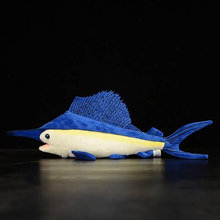 40cm Soft Simulation Sailfish Stuffed Toys Lifelike Sea Animals Plush Toy Huggable Fish Plush Dolls For Children Gifts