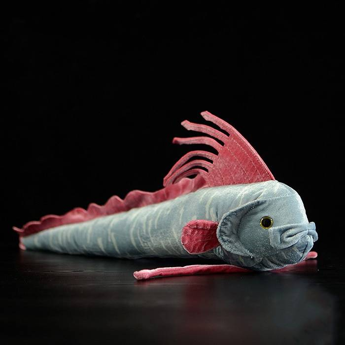 56CM Length Real Life Oarfish Stuffed Toys Super Soft Ribbon Fish Plush Toy Sea Animal Toys For Kids Birthday Gifts