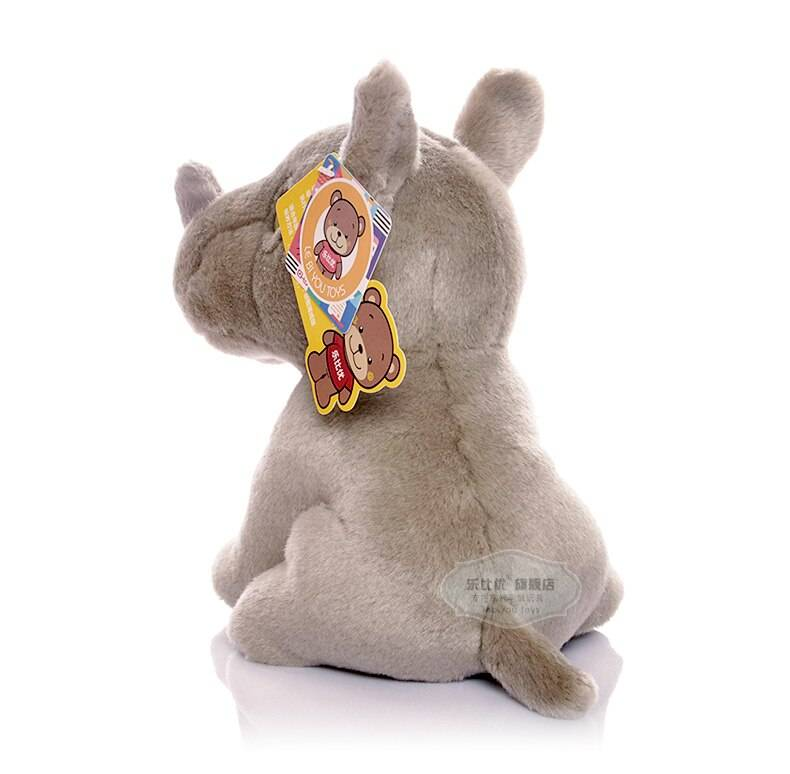 Free Shipping 18CM High Quality Rhinoceros Stuffed Animal Toys Kawaii Baby Plush Dolls Toys Christmas Gifts