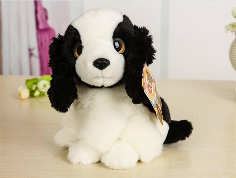 Free Shipping 18CM High Quality Simulation Dog Stuffed Toys Very Cute Cocker Spaniel Springer Spaniel Dog Stuffed Toy Kids Toys