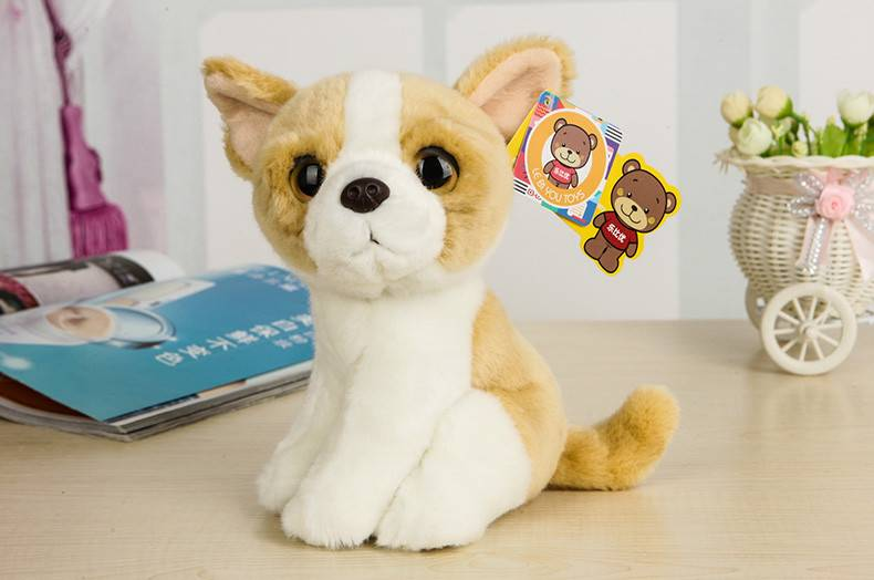 Free Shipping 7″ Simulation Dog Puppy Plush Toys Kawaii Chihuahua Stuffed Animal Toys For Children Best Christmas Gifts
