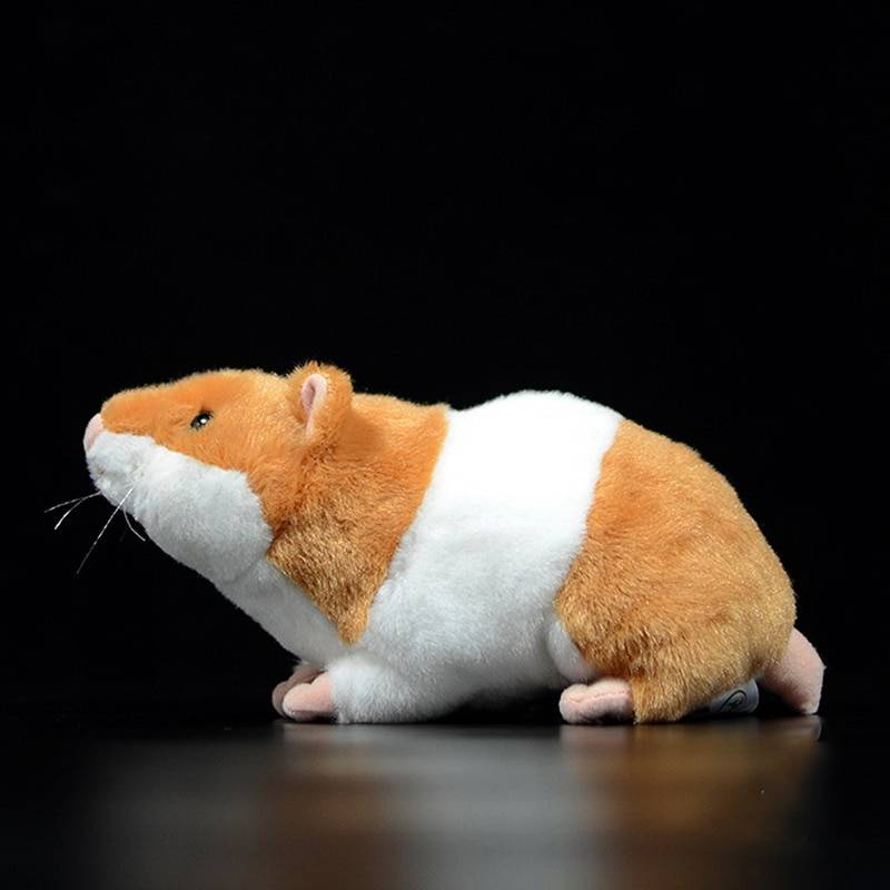 Kawaii Golden Hamsters Plush Toys Real Life Mouse Plush Dolls Lifelike Hamster Stuffed Toy For Kids