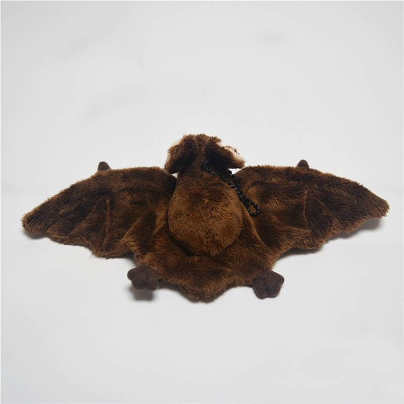 Lifelike Bat Plush Toys Realistic Wild Animal Stuffed Toy Soft Brown Bat Plush Dolls Educational Gifts For Kids 2 Colors