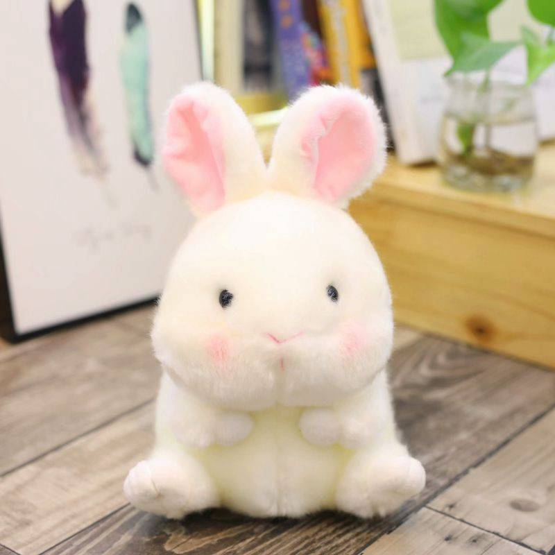 Nooer Animals Stuffed Plush Toy Kawaii Plush Round Shape Panda/Penguin/Pig/Rabbit/Hamster Seal Dolphin Plush Doll Soft Kids Toy