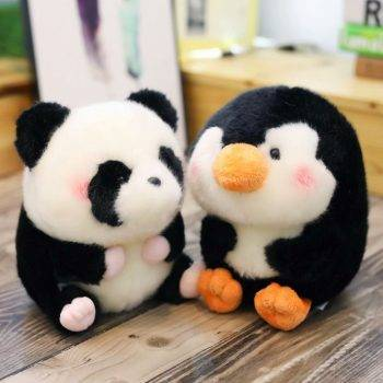 Panda Plush Toy For Kids - Penguin/Pig/Rabbit/Hamster/Seal Dolphin Stuffed Animals, Office Decor 2