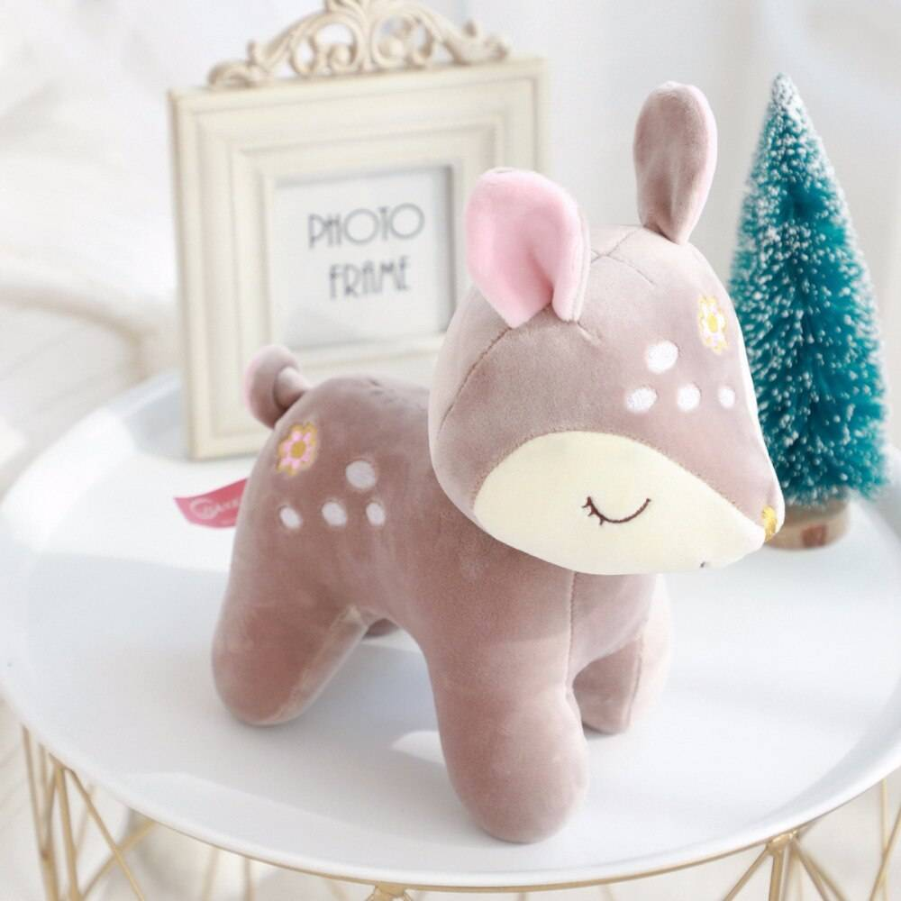 Nooer Cute Deer Plush Toy Soft Animals Deer Stuffed Doll Kids Toy Birthday Christmas Gift For Kids Child