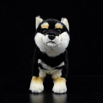 Japanese Shiba Inu Puppy Plush Toys - Black/White/Yellow Dog Stuffed Animal Toy, Gift Ideas 1