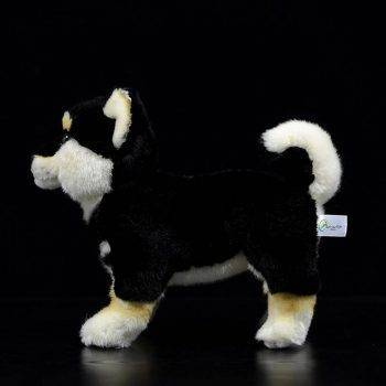 Japanese Shiba Inu Puppy Plush Toys - Black/White/Yellow Dog Stuffed Animal Toy, Gift Ideas 2
