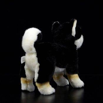 Japanese Shiba Inu Puppy Plush Toys - Black/White/Yellow Dog Stuffed Animal Toy, Gift Ideas 3