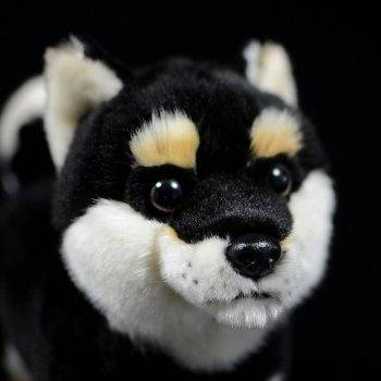 Japanese Shiba Inu Puppy Plush Toys - Black/White/Yellow Dog Stuffed Animal Toy, Gift Ideas 4