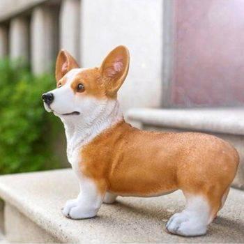 statue Figurine Corgi pembroke dog statuette ceramic