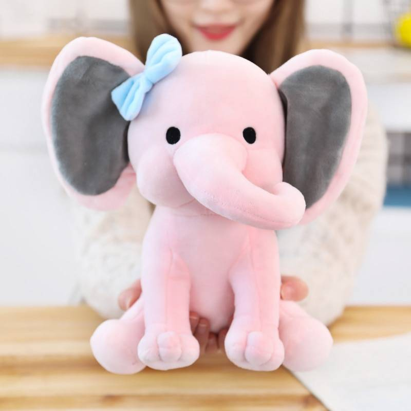 25cm Bedtime Originals Choo Choo Express Plush Toys Elephant Humphrey Soft Stuffed Plush Animal Doll for Kids Birthday Gift