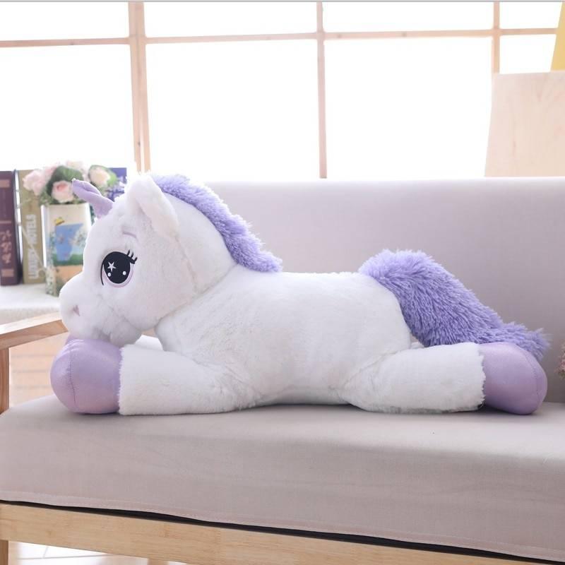 85cm/100cm White Unicorn Plush Toys Giant Unicorn Stuffed Animal Horse Toy Soft Unicornio Peluche Doll Gift Children Photo Props