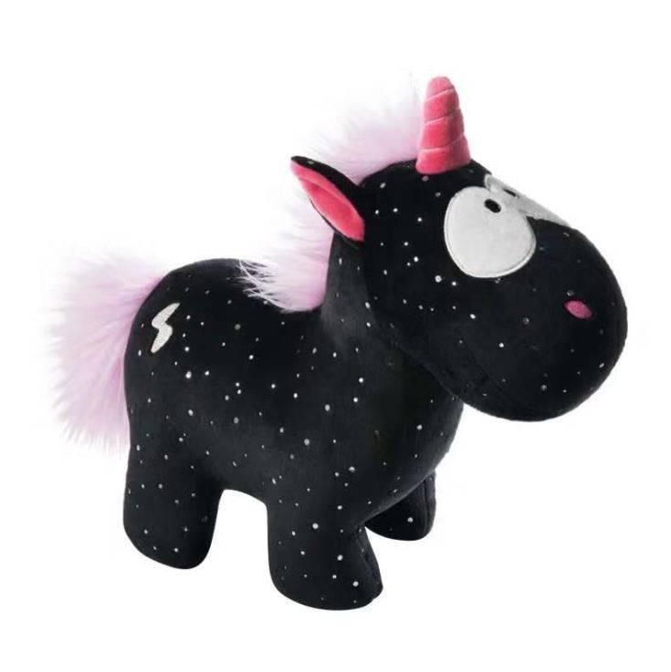 Angel Black Unicorn Doll Plush Toy Animal Doll Sleeping Pillow Cute Dream Unicorn Acompany Briquedo Doll