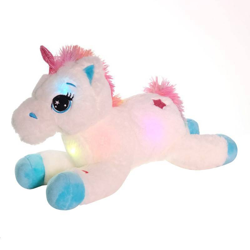 Colorful LED Unicorn Stuffed Animals – Cute Horse Plush Toys, Light Up Pony Doll For Kids, Birthday Gifts