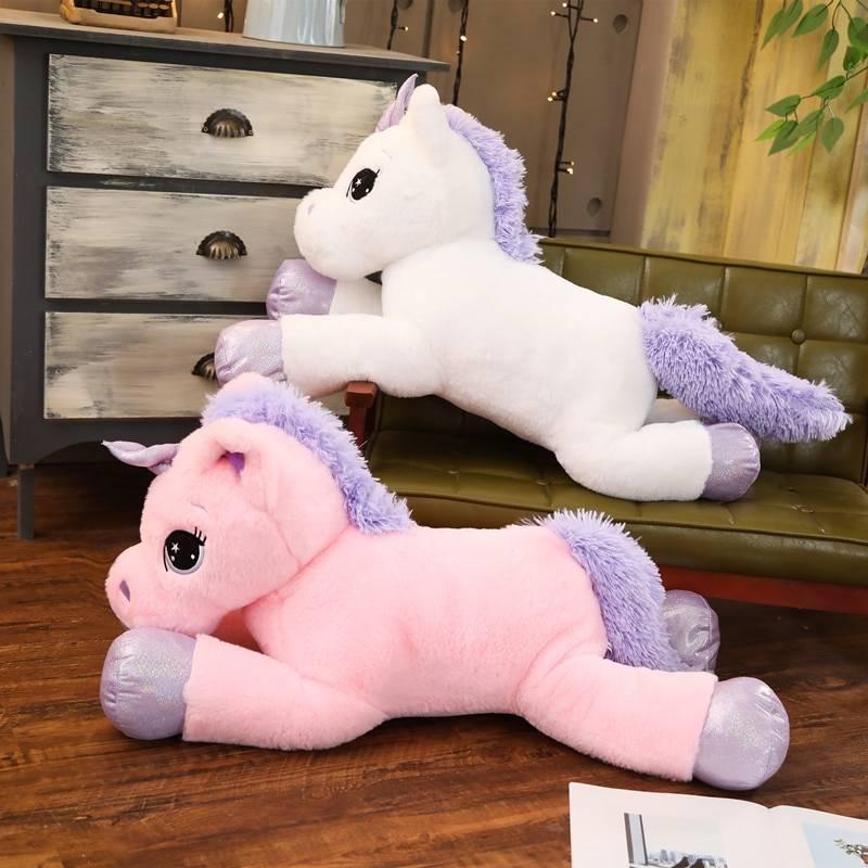 Giant Size 110cm Unicorn Plush Toy Soft Stuffed Rainbow Unicorn Doll Animal Horse Toy High Quality Gifts for Children Girls