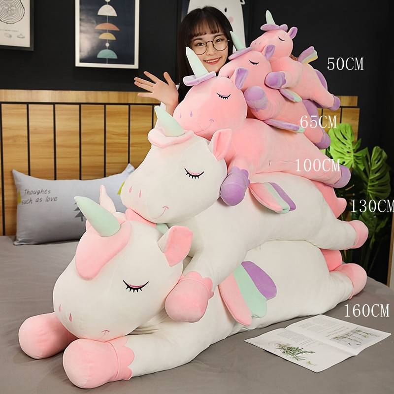 Hot Cushions Pillow For Sofa Colorful Pegasus Pillow Angel Unicorn Plush Toys Dolls For Kids Birthday Gift Valentine's Day Gifts