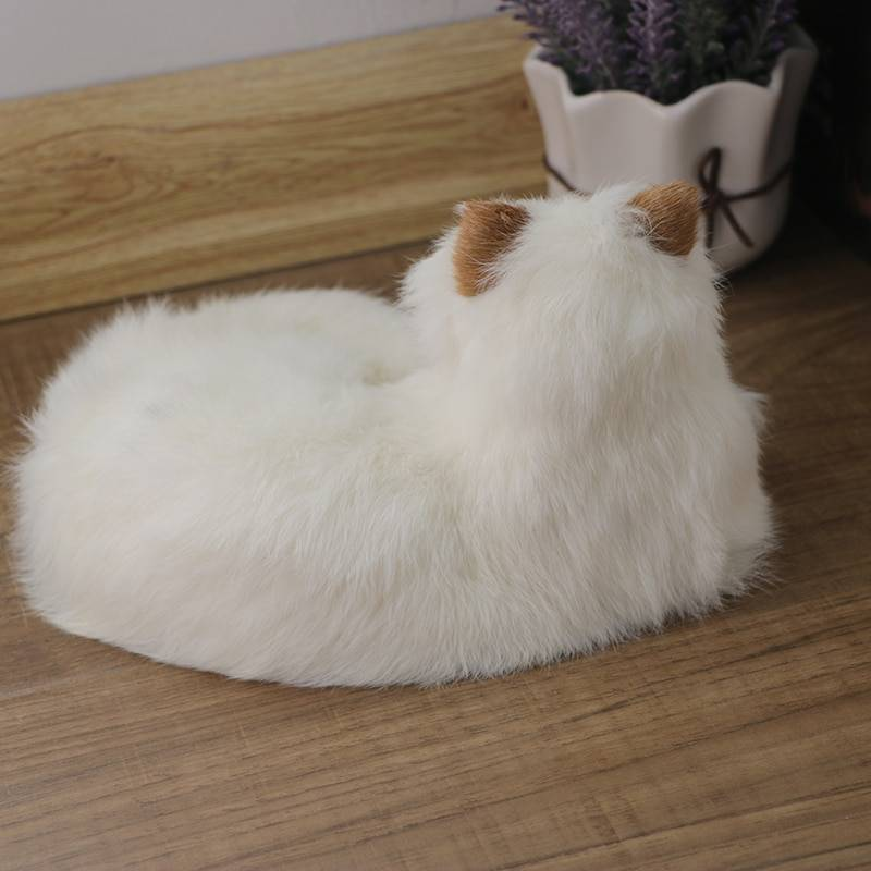 2019 new simulation cat doll leather fur handmade handmade cute cat children's gifts home decoration outdoor wedding decoration