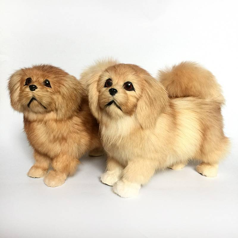 Children Stuffed Plush Animals Toys Lifelike Black Mini Dogs Dolls Realistic Pet Animals Models Kids Cognitive Toy Creative Gift